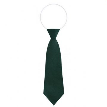 Elasticated Bottle Green Tie
